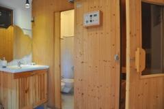 Bagno con sauna