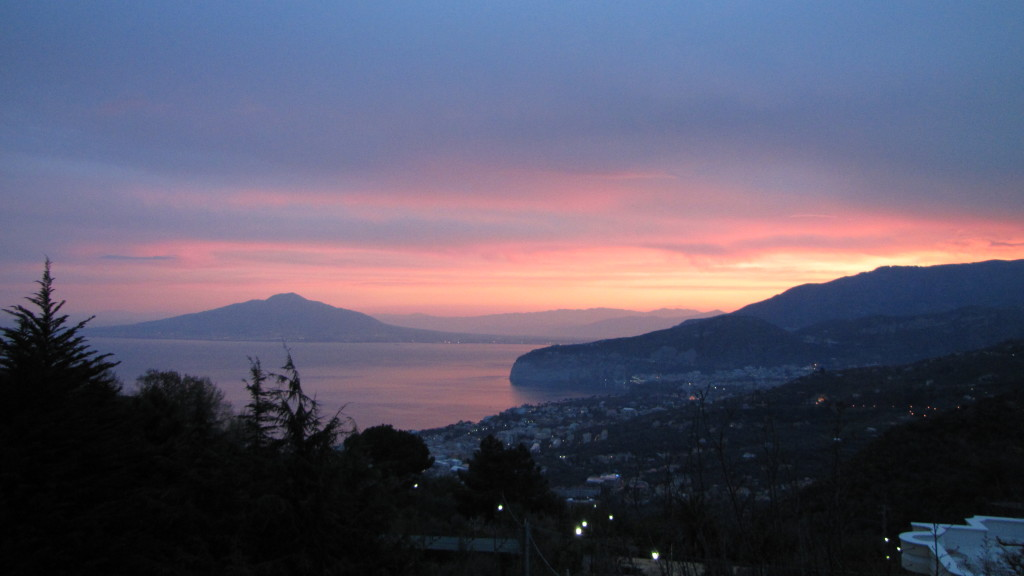 vista all'alba